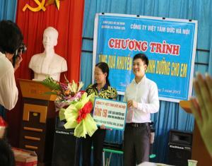 Việt Tâm Đức tiến hành chương trình Dinh dưỡng cho em